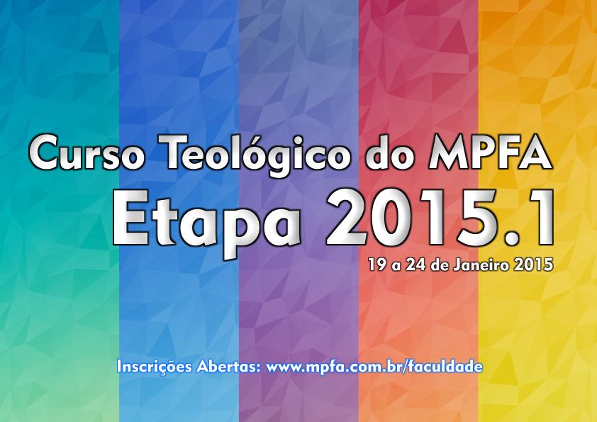 Curso Teológico do MPFA 2015.1 – Inscreva-se!