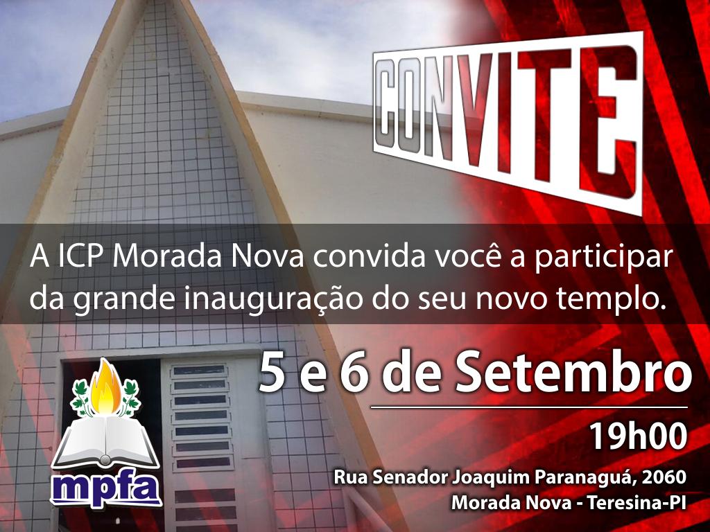 Inauguração da ICP Morada Nova